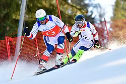 CIVADE Thomas, Guide: LARMET Kerwan, B3, FRA, Slalom at the WPAS_2019 Alpine Skiing World Cup Finals, Morzine, France