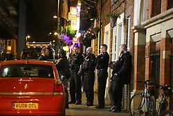 Manchester UK 25.12.201: Police were called to Manchesters gay village on christmas day after an incident in a  nightclub which saw 1 man taken to hospital and 3 males arrested<br /> <br /> <br /> NOTES To Editors this may be worth a call to cops as there were a  hell of a lot of police officers and  unconfirmed reports that  it was a door man who was taken to A&amp;E.