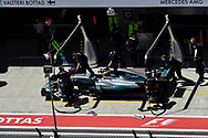 Lewis Hamilton of Mercedes AMG Petronas in the pits en route to coming fourth in the Russian Formula One Grand Prix at Sochi Autodrom, Sochi, Russia.<br /> Picture by EXPA Pictures/Focus Images Ltd 07814482222<br /> 30/04/2017<br /> *** UK & IRELAND ONLY ***<br /> <br /> EXPA-EIB-170430-0305.jpg
