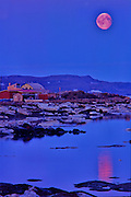July Moon Rise Over Iqaluit