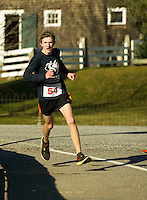 Gilford Youth Center's annual 5k Turkey Trot through the Village.  (Karen Bobotas/for the Laconia Daily Sun)