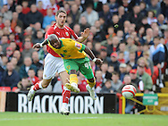 Bristol - Saturday, October 18th, 2008: Jamie McCombe of Bristol City and Leroy Lita of Norwich City during the Coca Cola Championship match at Ashton Gate, Bristol. (Pic by Alex Broadway/Focus Images)