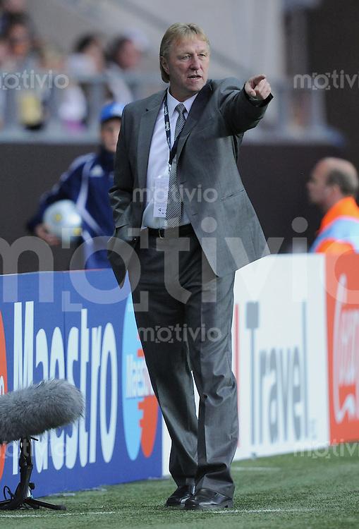 Fussball  International U 21 Europameisterschaft 2009 Spanien - Deutschland GER Trainer Horst Hrubesch