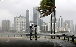 September 9, 2017 - Miami, Florida, U.S. - The winds and sea are whipped up off of the Rickenbacker Causeway as Hurricane Irma approaches. Irma, still category 4, churned toward Florida on Saturday, leaving a trail of death and destruction across the Caribbean and prompting one of the largest emergency evacuations in American history. The storm shifted west, putting the Florida Keys in its cross hairs and prompting officials to open more shelters. (Credit Image: © Sun-Sentinel via ZUMA Wire)