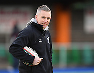 Pontypridd Coach Gareth Wyatt<br /> <br /> Photographer Mike Jones/Replay Images<br /> <br /> Principality Premiership Merthyr v Pontypridd - Saturday 17th February 2018 - The Wern Merthyr Tydfil<br /> <br /> World Copyright © Replay Images . All rights reserved. info@replayimages.co.uk - http://replayimages.co.uk