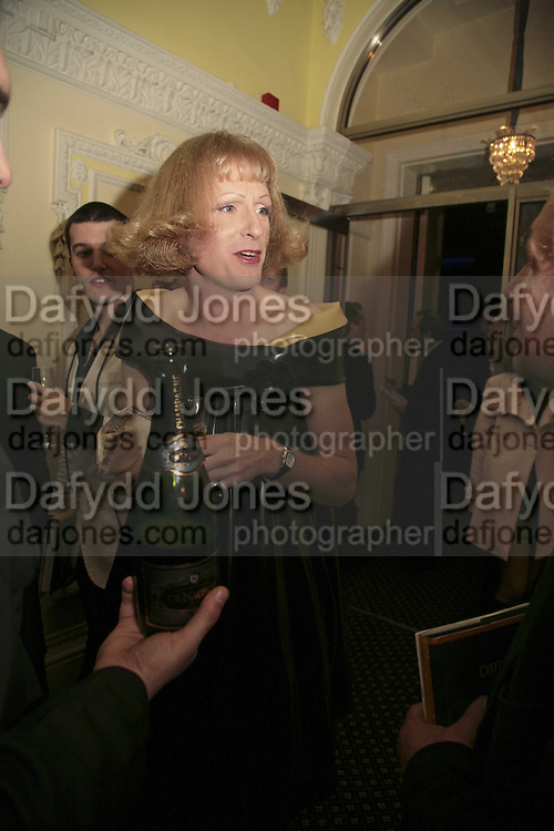 GRAYSON PERRY, Literary Review's Bad Sex In Fiction Prize.  In &amp; Out Club (The Naval &amp; Military Club), 4 St James's Square, London, SW1, 29 November 2006. <br />Ceremony honouring author who writes about sex in a 'redundant, perfunctory, unconvincing and embarrassing way'. ONE TIME USE ONLY - DO NOT ARCHIVE  &copy; Copyright Photograph by Dafydd Jones 248 CLAPHAM PARK RD. LONDON SW90PZ.  Tel 020 7733 0108 www.dafjones.com