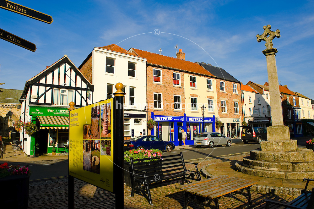 Howden market place, East Yorkshire,