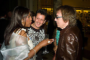 MARY WILSON, FRANK ALLEN ( SEARCHERS) AND BILL WYMAN,  The Story of the Supremes from the Mary Wilson<br />Collection. V. & A. Museum. London. 12 May 2008 *** Local Caption *** -DO NOT ARCHIVE-© Copyright Photograph by Dafydd Jones. 248 Clapham Rd. London SW9 0PZ. Tel 0207 820 0771. www.dafjones.com.