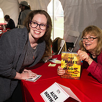 Alice Hoffman signs books at 2017 Morristown Festival of Books, Morristown, NJ, 10/14/17.