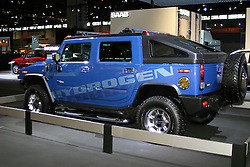 09 February 2006:  2007 Hummer H2H Hydrogen powered alternative fuel vehicle.....Chicago Automobile Trade Association, Chicago Auto Show, McCormick Place, Chicago IL