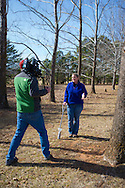 Shooting segments for upcoming season of Oklahoma Gardening. The team of Casey Hentges, Kevin Gragg, Laura Payne are producing the show for OETA Public Television Audiences with timely, informative information on gardening and healthy eating. The show features experts from Oklahoma Cooperative Extension Service as well as leaders in horticulture and environment from across the state.
