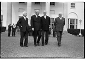 1962 Eamon de Valera, Dwight D. Eisenhower signs Visitors Book at Aras an Uachtarain