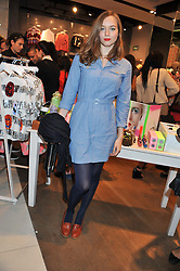 Singer LOU HAYTER at a party to celebrate the launch of Louise Gray's make-up and clothing collections for Topshop held at Topshop Edited, 286 Regent Street, London on 22nd August 2012.