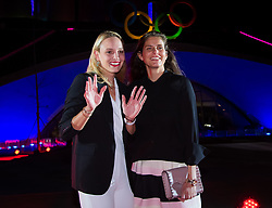 September 30, 2018 - Donna Vekic of Croatia & Julia Goerges of Germany on the red carpet at the 2018 China Open WTA Premier Mandatory tennis tournament players party (Credit Image: © AFP7 via ZUMA Wire)