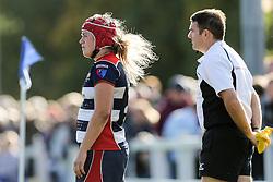 Carys Phillips of Bristol Ladies looks on - Rogan Thomson/JMP - 16/10/2016 - RUGBY UNION - Cleve RFC - Bristol, England - Bristol Ladies Rugby v Lichfield Ladies - RFU Women's Premiership.