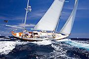 God Speed sailing in the 2010 Antigua Classic Yacht Regatta, Windward Race, day 4.