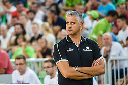 Igor Kokoskov head coach of Slovenia during qualifying match between Slovenia and Kosovo for European basketball championship 2017,  Arena Stozice, Ljubljana on 31th August, Slovenia. Photo by Grega Valancic / Sportida