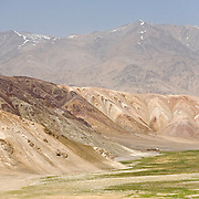 Rock formations on the Pamir plateau, Tajikistan