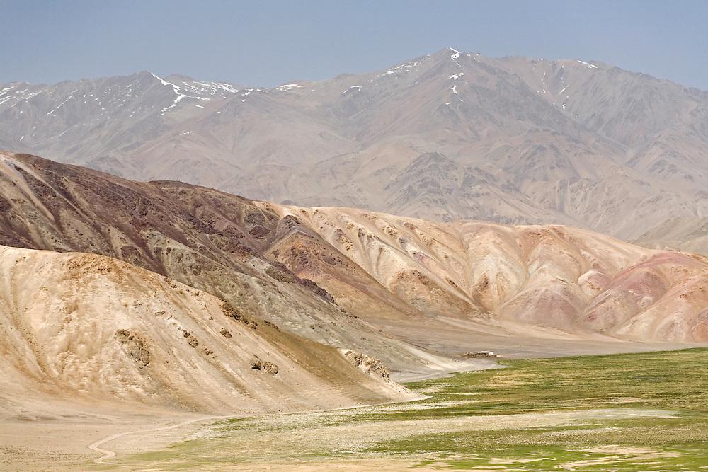 Rock formations on the Pamir plateau, Tajikistan