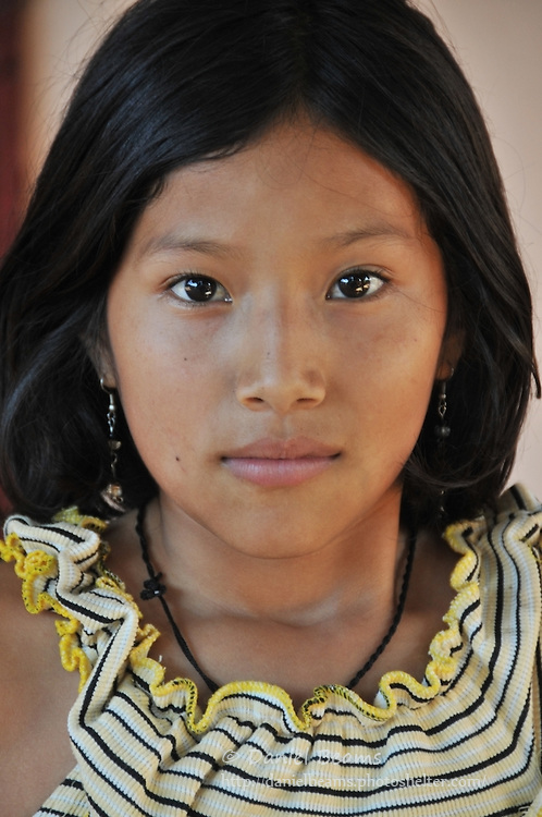 Bolivian girl from orphanage in Santa Cruz, Bolivia
