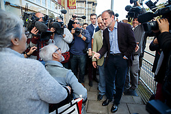 © Licensed to London News Pictures. 10/10/2014. Clacton, UK. Douglas Carswell, newly elected and first ever MP of UKIP for Clacton-on-Sea visits at Clacton town centre on Friday, 10 October, 2014 after his victory in the by-election of Clacton-on-Sea. Photo credit : Tolga Akmen/LNP