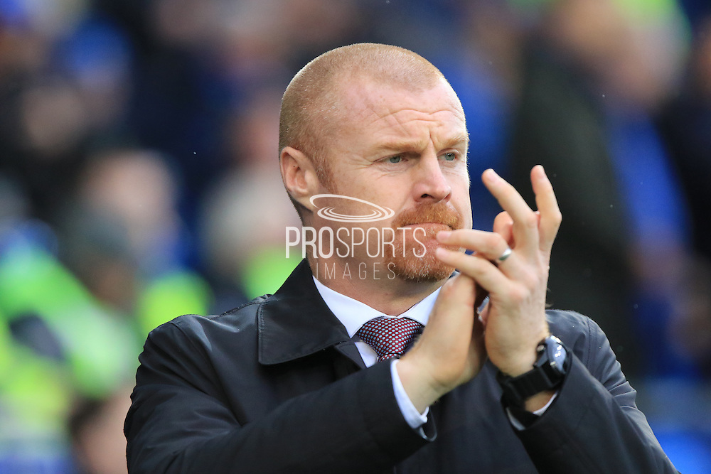 Burnley manager Sean Dyche during the Sky Bet Championship match between Cardiff City and Burnley at the Cardiff City Stadium, Cardiff, Wales on 28 November 2015. Photo by Jemma Phillips.
