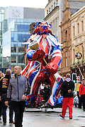 Parade during the Manchester Olympic Parade in Manchester, United Kingdom on 17 October 2016. Photo by Richard Holmes.