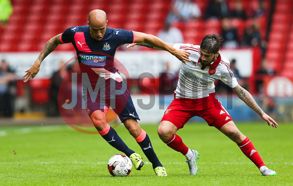 Gabriel Obertan of Newcastle United in action - Mandatory by-line: Matt McNulty/JMP - 26/07/2015 - SPORT - FOOTBALL - Sheffield,England - Bramall Lane - Sheffield United v Newcastle United - Pre-Season Friendly