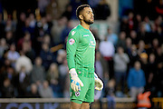 Milwall goalkeeper Jordan Archer during the Sky Bet League 1 play-off second leg match between Millwall and Bradford City at The Den, London, England on 20 May 2016. Photo by Nigel Cole.