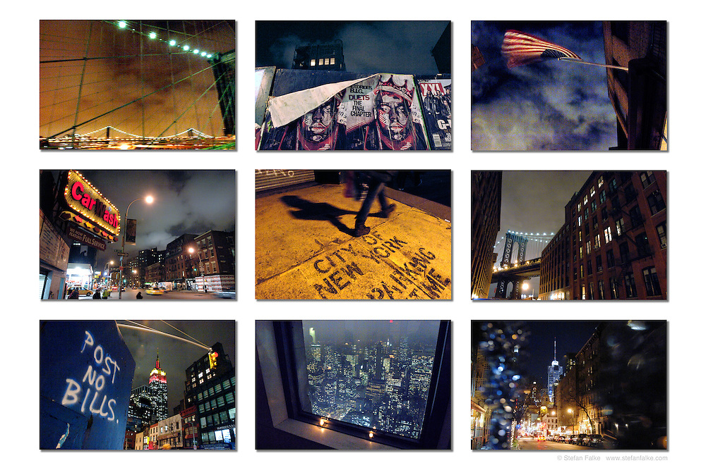 """New York City Night Vision. For wide  16""""x24"""" and 24""""""""x36"""" prints."""