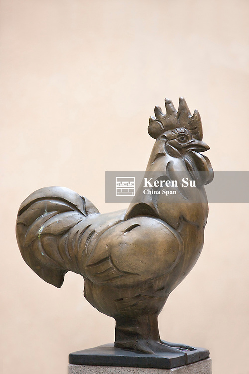 Statue of rooster, Stockholm, Sweden