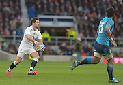 Twickenham Great Britain.  Sub, Danny CIPRIANI, looks to distribute the ball during the 2015 RBS Six Nations Rugby; England vs Italy. RFU Twickenham Stadium. England. Saturday  14/02/2015  [Mandatory Credit; Peter Spurrier/Intersport-images]