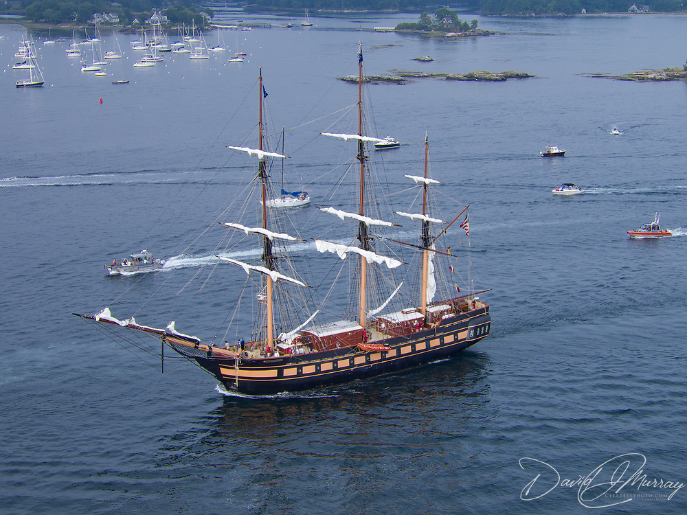 The Oliver Hazard Perry on the Piscataqua River near Kittery, ME and New Castle, NH during the Parade of Sail, August 10, 2016.