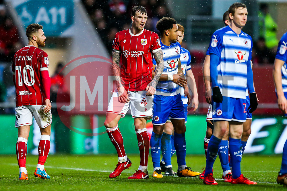 Aden Flint of Bristol City looks on - Rogan/JMP - 26/12/2017 - Ashton Gate Stadium - Bristol, England - Bristol City v Reading - Sky Bet Championship.