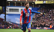 Yohan Cabaye gives orders during the Barclays Premier League match between Crystal Palace and West Ham United at Selhurst Park, London, England on 17 October 2015. Photo by Michael Hulf.