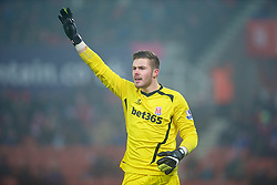 STOKE-ON-TRENT, ENGLAND - Sunday, January 4, 2015: Stoke City's goalkeeper Jack Butland in action against Wrexham during the FA Cup 3rd Round match at the Britannia Stadium. (Pic by David Rawcliffe/Propaganda)