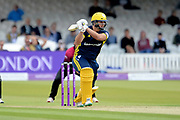 Rilee Rossouw of Hampshire batting during the Royal London One-Day Cup final  between Somerset County Cricket Club and Hampshire County Cricket Club at Lord's Cricket Ground, St John's Wood, United Kingdom on 25 May 2019.