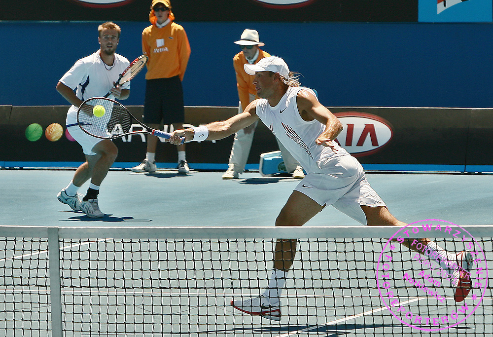 GEPA-2701096713 - MELBOURNE,AUSTRALIEN,27.JAN.09 - TENNIS - ATP World Tour, Doppel, Grand Slam, Australian Open 2009. Bild zeigt Oliver Marach (AUT) und Lukasz Kubot (POL). Foto: GEPA pictures/ Matthias Hauer.FOT. GEPA / WROFOTO.*** POLAND ONLY !!! ***