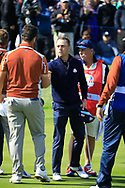 Justin Thomas (Team USA) on the 17th during the Saturday Fourballs at the Ryder Cup, Le Golf National, Paris, France. 29/09/2018.<br /> Picture Phil Inglis / Golffile.ie<br /> <br /> All photo usage must carry mandatory copyright credit (© Golffile | Phil Inglis)
