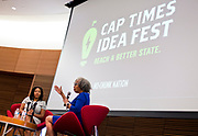 Gloria Ladson-Billings, right, speaks on the topic of education and children of color at the Cap Times 2017 Idea Fest, Sunday, September 17, 2017