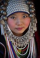 Young Aka women in the near of Chiang Rai.