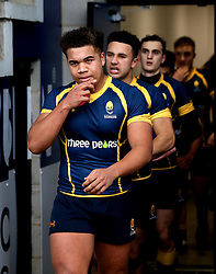 Worcester Warriors U18 walk out to face Sale Sharks U18 - Mandatory by-line: Robbie Stephenson/JMP - 29/01/2017 - RUGBY - Sixways Stadium - Worcester, England - Worcester Warriors U18 v Sale Sharks U18 - Premiership Rugby U18 Academy League