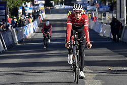 September 16, 2017 - Bergen, Norway - BERGEN, NORWAY - SEPTEMBER 16 : THEUNS Edward (BEL) Rider of Trek - Segafredo pictured during the reconnaisance of the Team Time Trial 2017 World Road Championship cycling race on September 16, 2017 (Credit Image: © Panoramic via ZUMA Press)