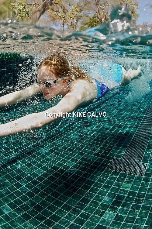 Swimming at the Prieta Beach Club and Spa at Peninsula Papagayo.