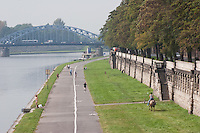 Kurlandzki Boulevard or Embankment popular with locals for keeping fit, cycling and other leisure activities