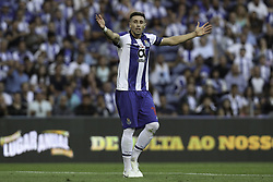 July 28, 2018 - Porto, Porto, Portugal - Porto's Mexican midfielder Hector Herrera reacts during the Official Presentation of the FC Porto Team 2018/19 match between FC Porto and Newcastle, at Dragao Stadium in Porto on July 28, 2018. (Credit Image: © Dpi/NurPhoto via ZUMA Press)