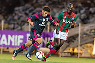 Portugal, FUNCHAL : Benfica's Argentine midfielder Salvio (L )  vies with Maritimo's Guinea midfielder Danilo Pereira  (R ) during Portuguese League football match Maritimo vs S.L. Benfica at Barreiros Stadium in Funchal on January  18, 2015. PHOTO/ GREGORIO CUNHA