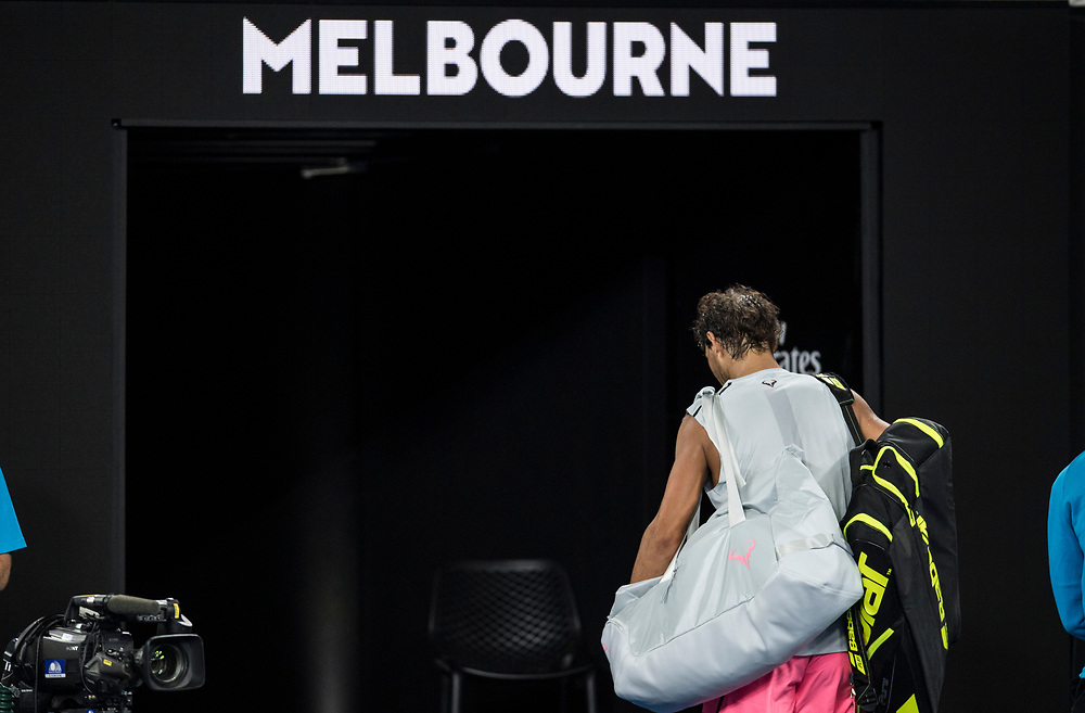 Rafael Nadal of Spain on day nine of the 2018 Australian Open in Melbourne Australia on Tuesday January 23, 2018.<br /> (Ben Solomon/Tennis Australia)
