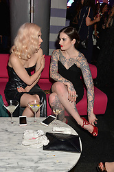 Left to right, PORTIA FREEMAN and JESSICA MOLONEY at The Naked Heart Foundation's Fabulous Fund Fair hosted by Natalia Vodianova and Karlie Kloss at Old Billingsgate Market, 1 Old Billingsgate Walk, London on 20th February 2016.
