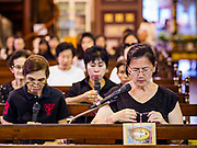 30 MARCH 2018 - BANGKOK, THAILAND: during Good Friday observances at Santa Cruz Church in the Thonburi section of Bangkok. Santa Cruz is more than 350 years old and is one of the oldest Catholic churches in Thailand.        PHOTO BY JACK KURTZ
